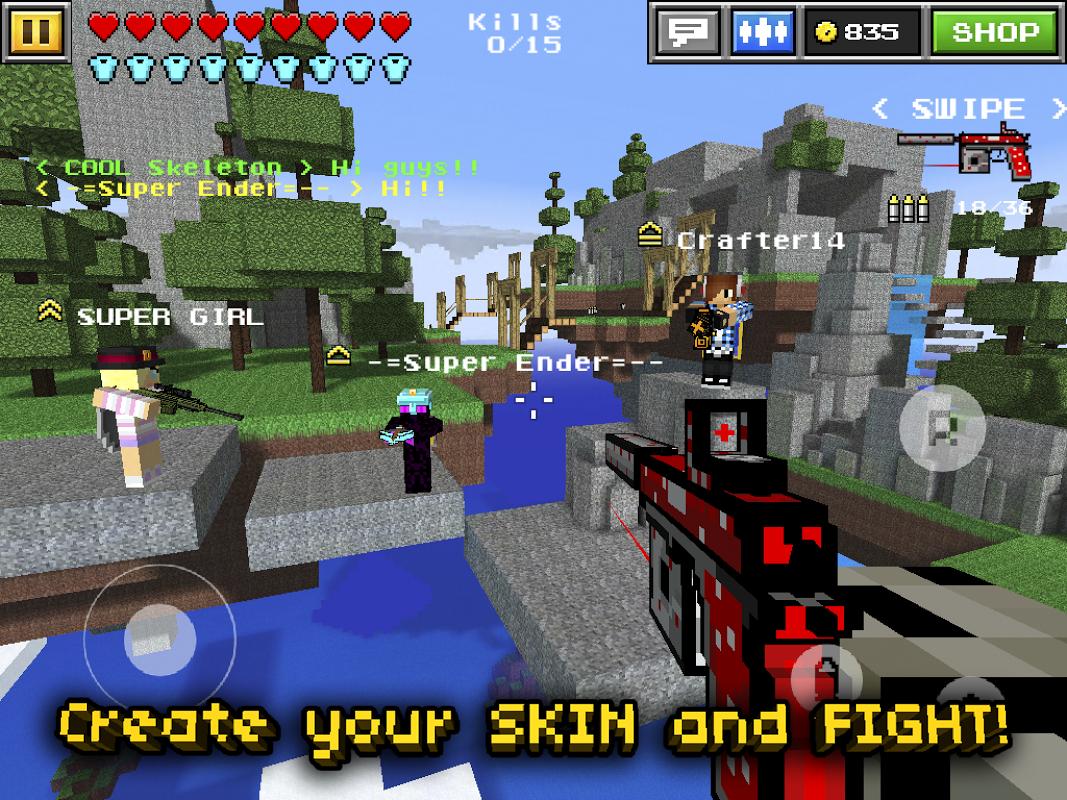 Pixel Gun 3D (Minecraft style) screenshot 1