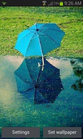 Blue Umbrella Live Wallpaper Screenshot 3