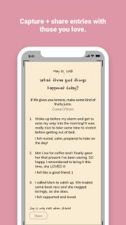 Three Good Things - gratitude journal screenshot 1
