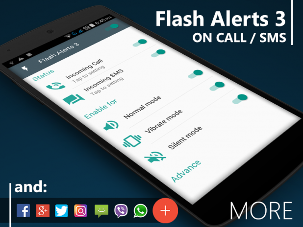Flash Alerts 3 on Call and SMS 1 0 Download APK for Android - Aptoide
