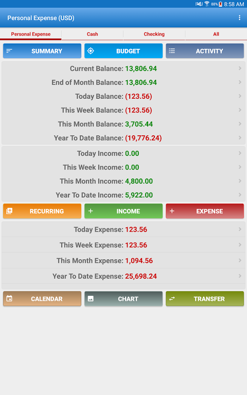 Expense Manager Pro screenshot 1