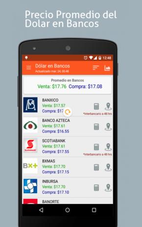 تحميل APK لأندرويد - آبتويد Dólar en México: Precio en Bancos
