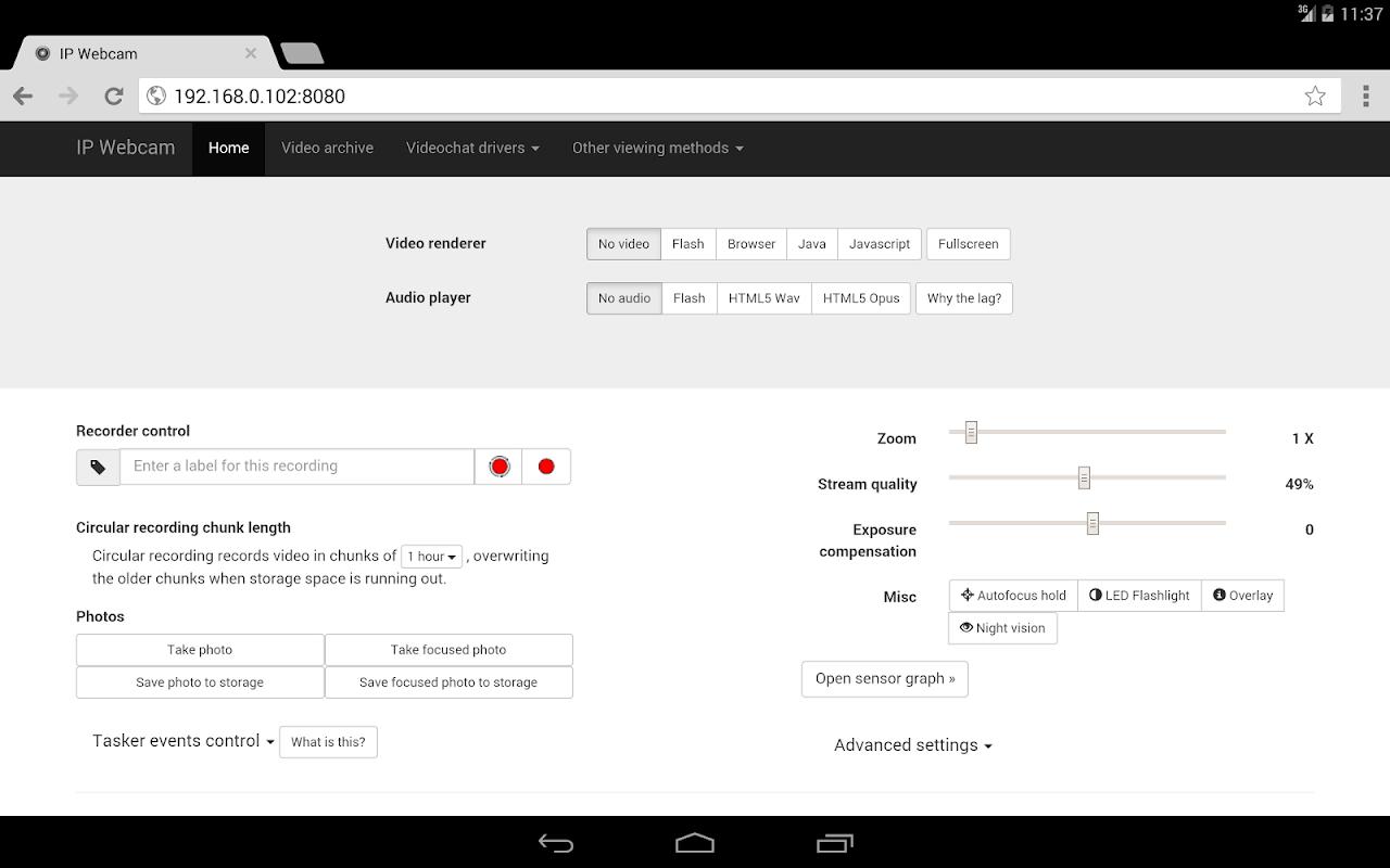 IP Webcam 1 14 27 730 (arm) Download APK para Android   Aptoide
