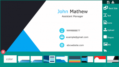 business card maker visiting card maker photo logo screenshot 4