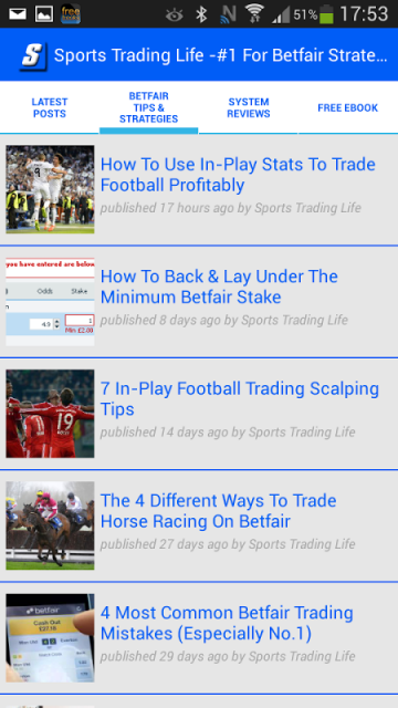 Football trading strategies on betfair