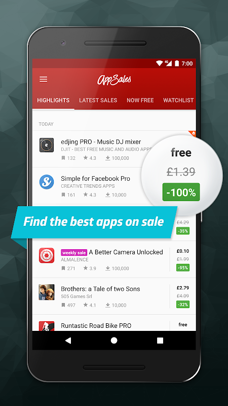 AppSales: Paid Apps Gone Free & On Sale screenshot 1