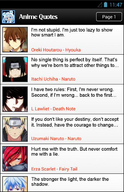 anime quotes and jokes apk for android aptoide