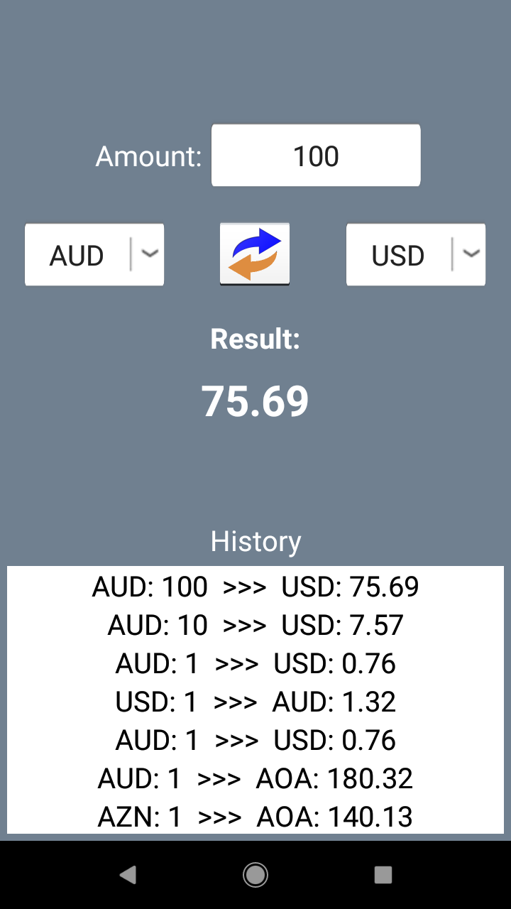 Currency Converter. Exchange rates and calculator screenshot 3