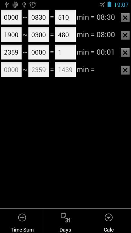 CalcTime screenshot 2