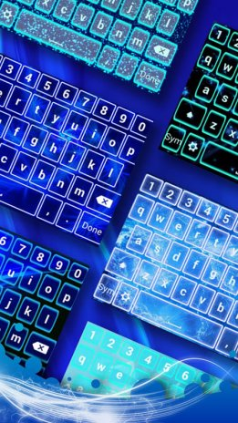 Neon Blue Emoji Keyboard 1 1 Download APK for Android - Aptoide