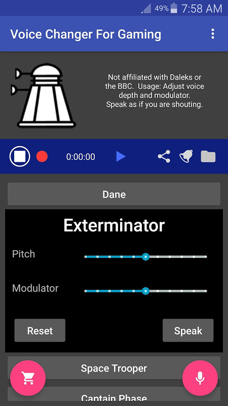 Voice Changer for Gaming: for PC PS4 XBox screenshot 1