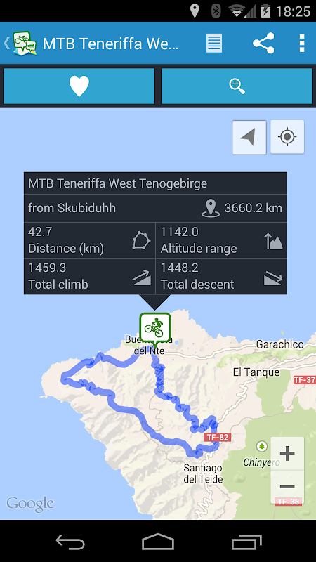GPSies screenshot 1