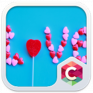 lovely heart theme c launcher icon