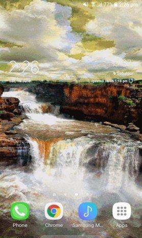 ... cloudy waterfall live wallpaper screenshot 3