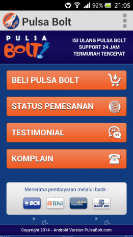Pulsa Bolt 1 3 Download Apk For Android Aptoide