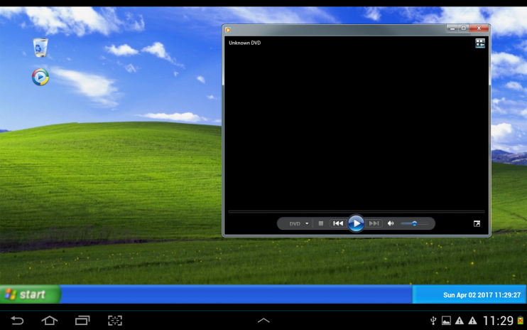 Run windows xp on your android device: run win xp on android devices.