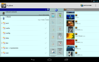 X-plore File Manager Screen