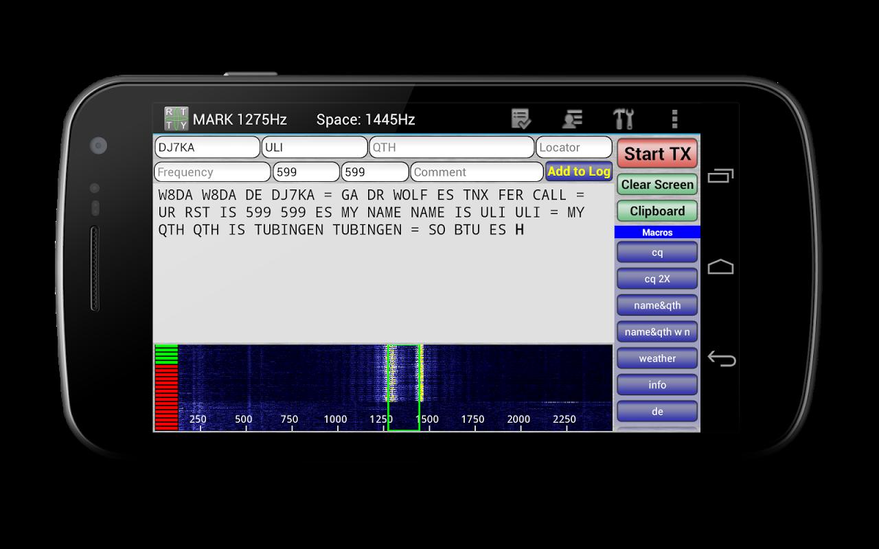 DroidRTTY for Ham Radio screenshot 1
