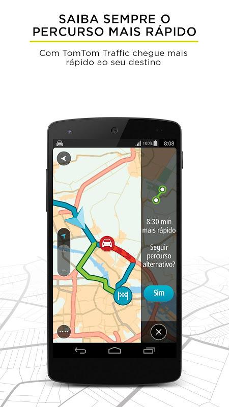 TomTom Navegação GPS - Trânsito em Tempo Real screenshot 1