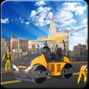 Straßenroller Bau: Stadt im Schwer Parken 3d
