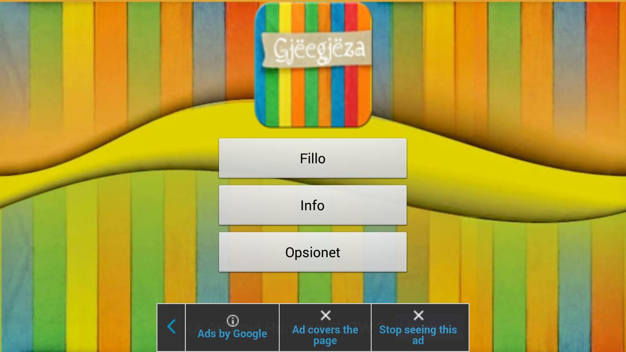 Gjeegjeza Shqip screenshot 1
