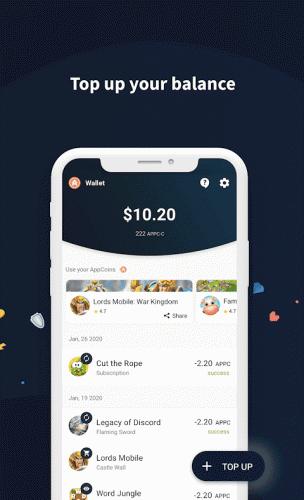 AppCoins Wallet screenshot 1