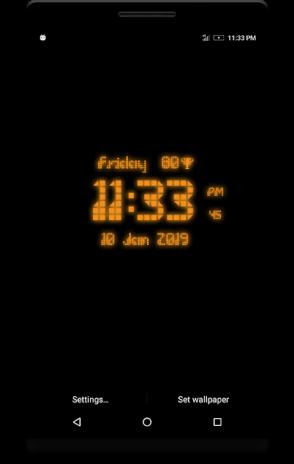 Pixel Digital Clock Live Wallpaper 11 1 1 9 Download APK for