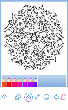 Flower Mandala Coloring Book Screenshot 7