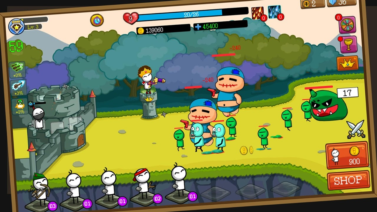 Merge Archer : Tower Defense screenshot 2