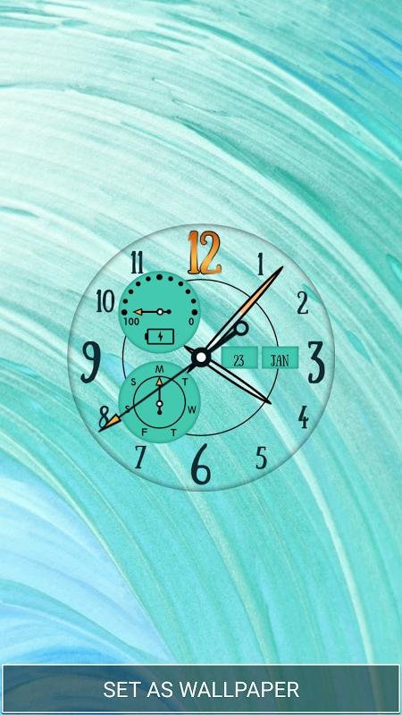 Live Wall Clock Wallpaper App screenshot 2