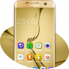 Theme For Samsung Galaxy S8 Gold Wallpaper Hd 2 1 2 Laden Sie Apk