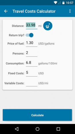 Travel Cost Calculator 1 2 1 Download APK for Android - Aptoide
