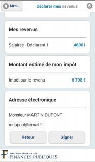 Impots.gouv screenshot 1