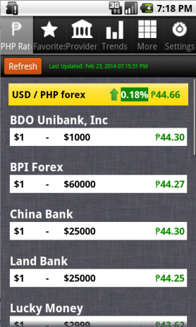 Philippines Peso Exchange Rate Screenshot 1 2