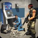 Bankraub Bargeld Sicherheit Van Polizei und Räuber