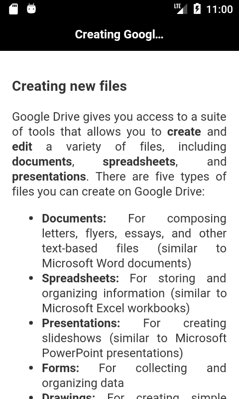Learn Google Drive screenshot 2