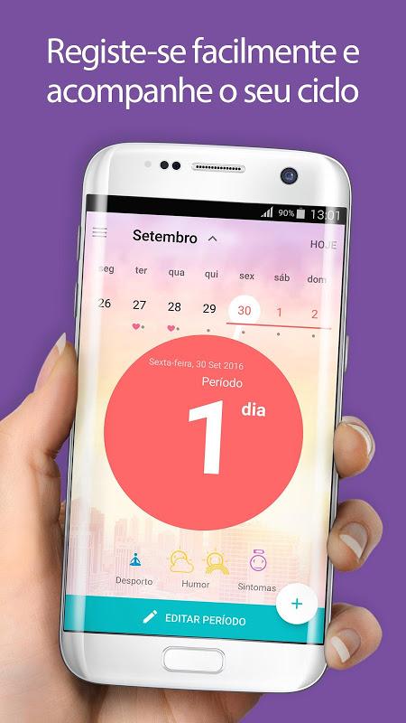 Calendário Menstrual Flo, Gravidez, Período Fértil screenshot 1