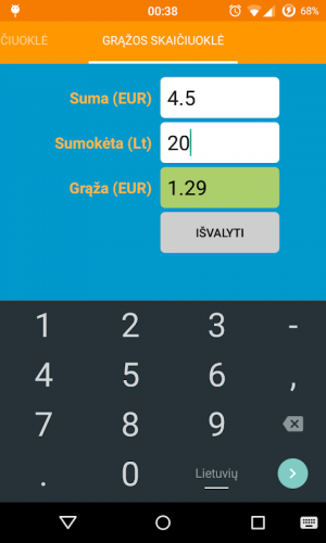 Skaitmeninės informacijos matavimo vienetų skaičiuoklė