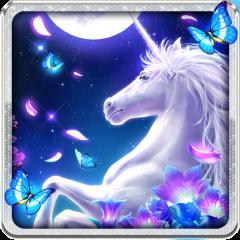 White Unicorn Live Wallpaper Icon