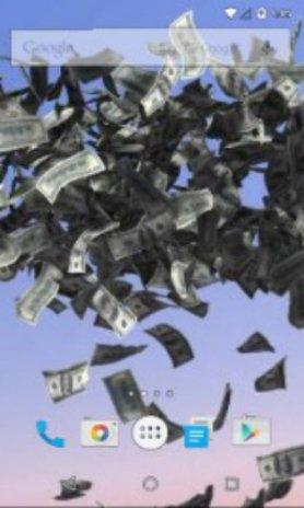 Money Rain Live Wallpaper Captura De Pantalla 2