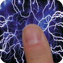 Electric screen simulator: touch for lightning art