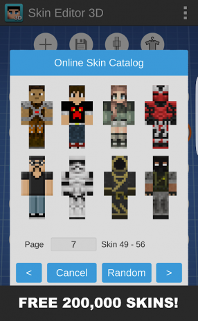 Skin Editor 3D for Minecraft 1 7 Download APK for Android