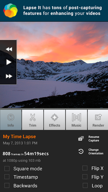 Lapse It • Time Lapse Camera screenshot 2