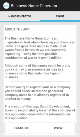 business name generator 1 01 download apk for android aptoide