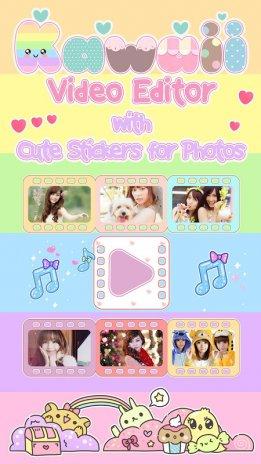 Cute Video Maker With Music Kawaii Photo Editor 12 - kawaii song roblox id