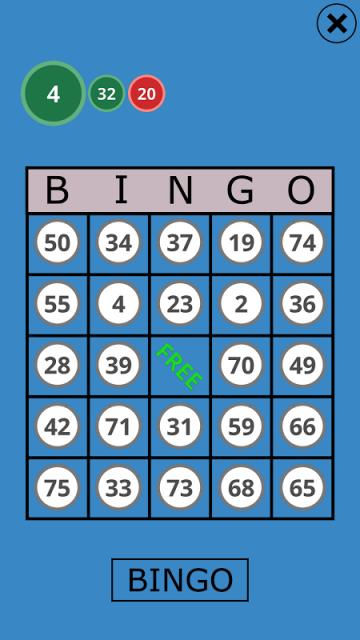 classic 4 bingo