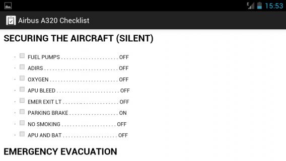 Airbus A320 Checklist12 0 tải APK dành cho Android - Aptoide