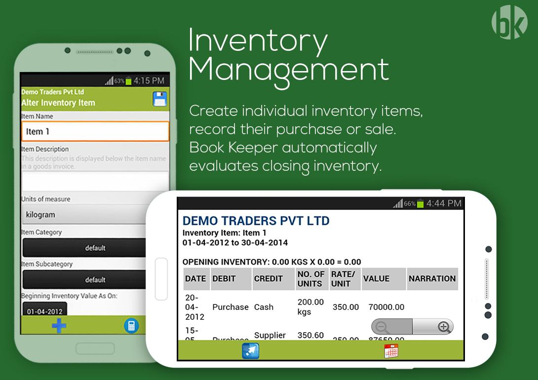 Book Keeper - Accounting, GST Invoicing, Inventory screenshot 1