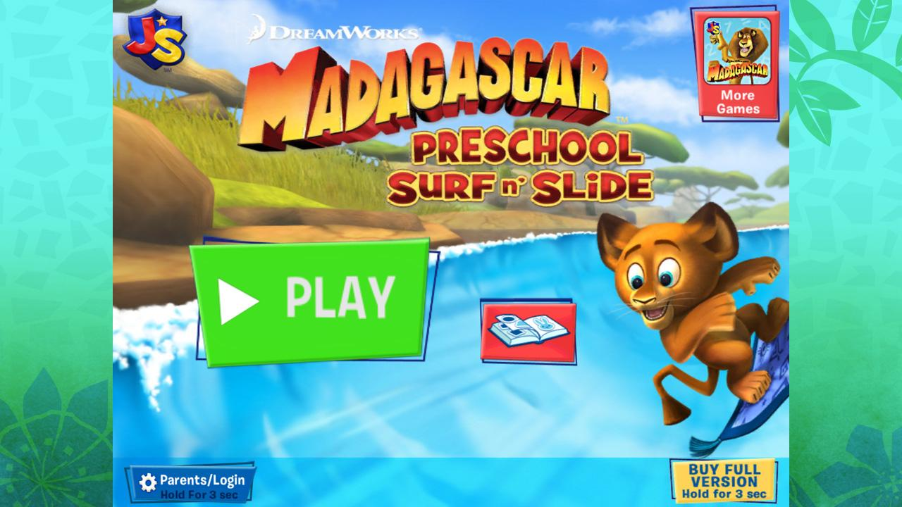 Madagascar Surf n' Slides Free screenshot 1
