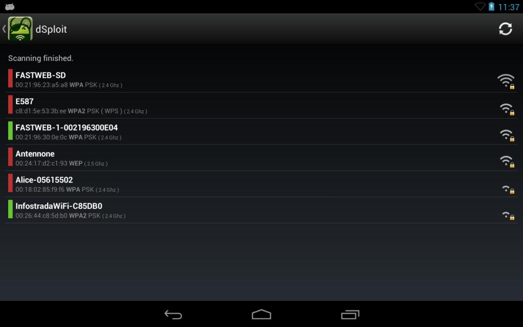 dSploit screenshot 1